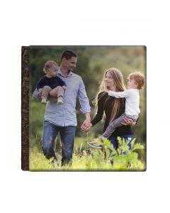 Album foto holiday, patrat, 20x20, piele ecologcia, face-off carton negru, 10 file