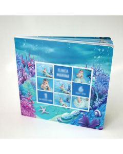 Album foto softcover, patrat, 20x20, 15 file (40-50 poze)